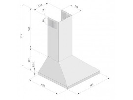 Hota decorativa Pyramis SQUARE CHIMNEY SLIM